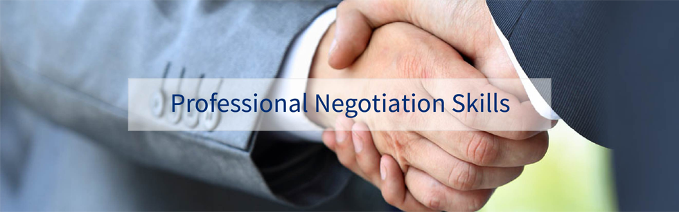Professional negotiation skills