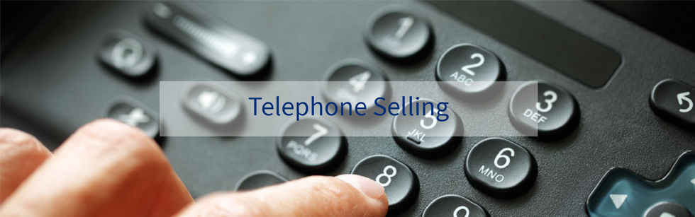 Telephone selling skills