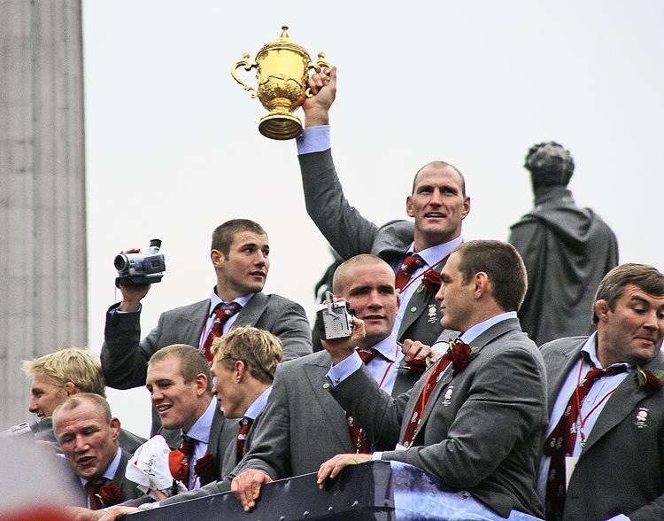 England's winning team