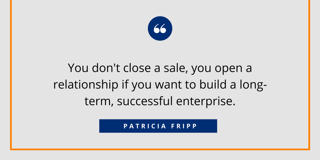 Open a relationship in sales - Fripp