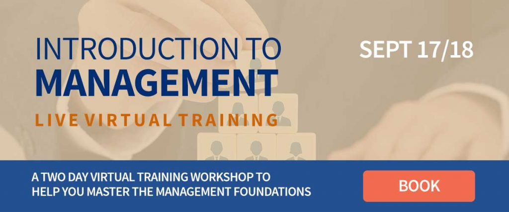Introduction To Management live virtual training